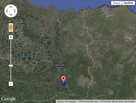 Mapa de la zona del Parque del Pleistoceno, donde han clonado un mamut.