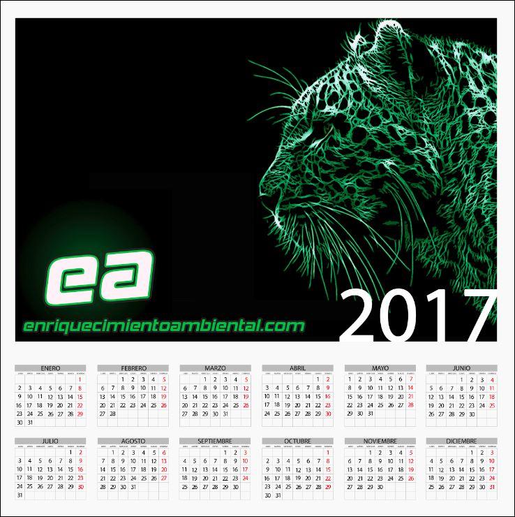 Calendario anual 2017 enriquecimientoambiental.com